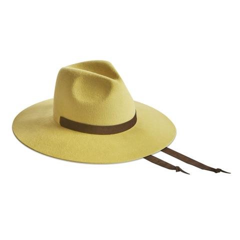 Big Fedora 9 cm - Velour giallo