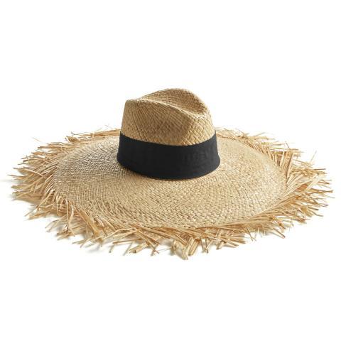 Big-Fringe-fascia-nero-retro-cappello-di-paglia-montegallo