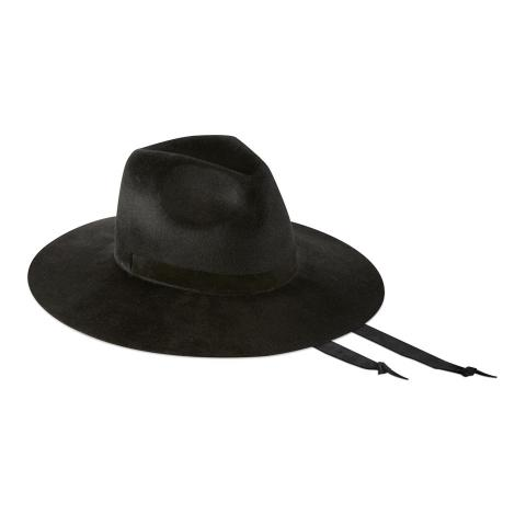Big Fedora 9 cm - Velour nero